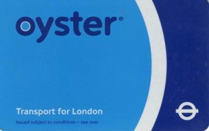 Oyster card, ticket to the London Underground